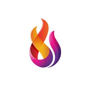 لوگو خلاقانه شعله آتش