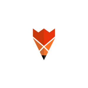 لوگو خلاقانه مداد + رویاه + شاه